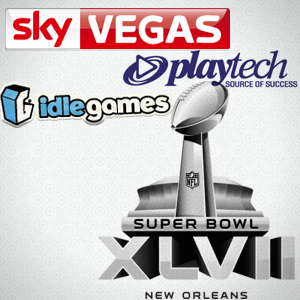 Idle Gaming wants to send someone to Super Bowl XLVII; Playtech, SkyVegas release new online games