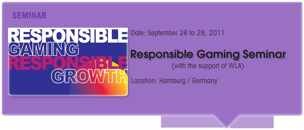 Responsible Gaming Seminar/Conference (WLA Support)