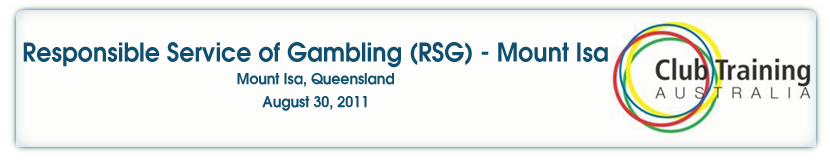 Responsible Service of Gambling - Mount Isa