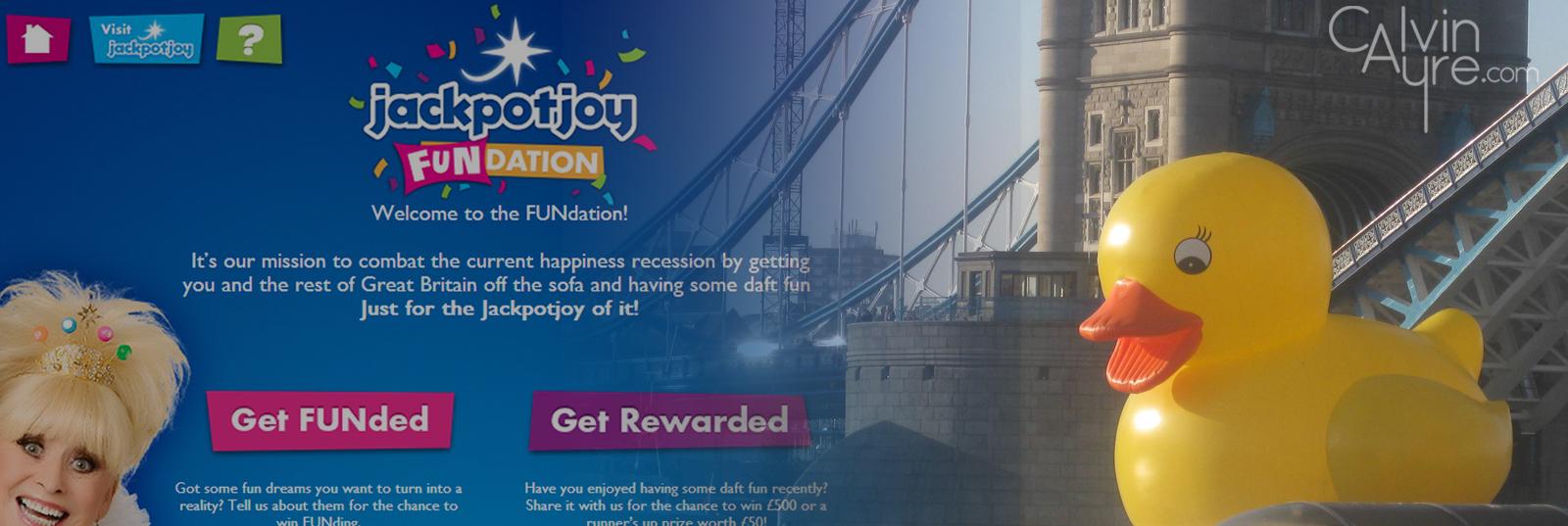 Jackpot Joy FUNdation Facebook App, Gamesys Giant Rubber Duck on Thames