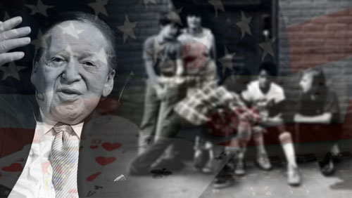 Adelson Looking Out of the Children and the Poor