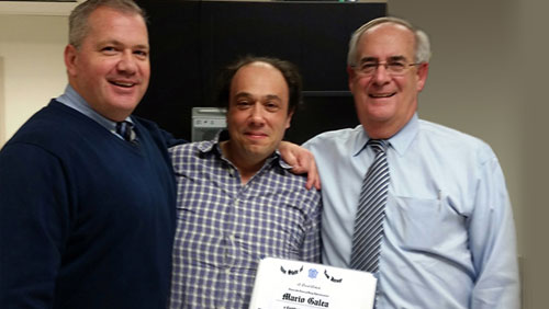 New Jersey's Division of Gaming Enforcement awards Mario Galea with a Certificate of Appreciation