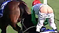 Aussie jockey's trousers fall down during race, still finishes second