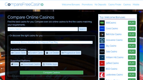 Compare Free Casino simplifies the process of finding the perfect provider