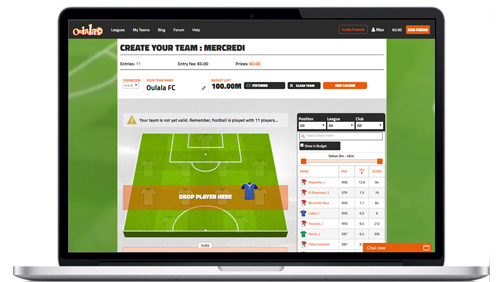 Oulala Becomes First Licensed B2B Fantasy Sports Provider