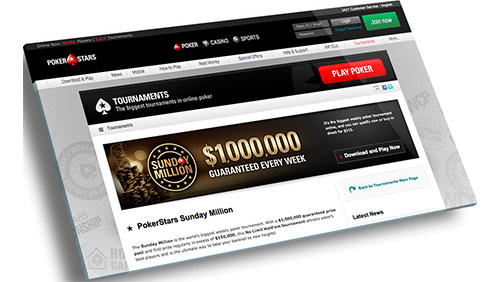 BIG VALUE WEEKEND WITH HALF-PRICE SUNDAY MILLION AND €25,000 TICKET DROP AT POKERSTARS