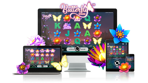 NetEnt sparkles with launch of low poly graphic title Butterfly Staxx