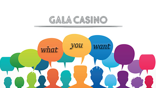 More ways to win 'What You Want' with GalaCasino.com