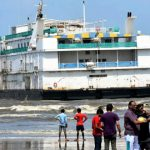 Goa's newest floating casino runs aground on local beach