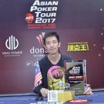 Malaysian thunderbolt Aik Chuan is the newest APT Main Event Champion!