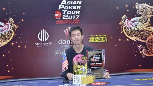 Malaysian thunderbolt Aik Chuan is the newest APT Main Event Champion!