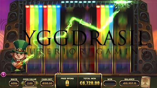 Shred at the slots with Yggdrasil's rockin' leprechaun Rainbow Ryan