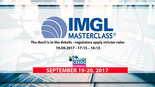 CEEGC 2017 Budapest announces IMGL Masterclass about regulatory developments