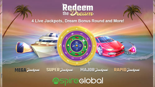 "Redeem the Dream""  - Aspire Global to launch proprietary progressive jackpot title"
