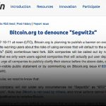 Bitcoin.org threatens to name call SegWit2X participants