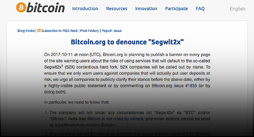 bitcoin-org-denounce-segwit2x