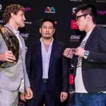 Ben Askren faces off with Shinya Aoki at ONE: Immortal Pursuit kick-off press conference