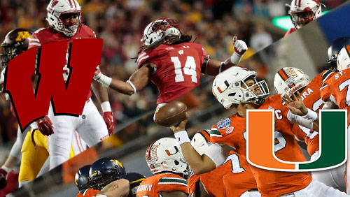 Wisconsin, Miami looking to continue perfect seasons as big chalk