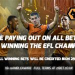 21Bet payout on Wolves winning the EFL Championship