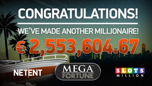 NetEnt's Mega Fortun slot secures SlotMillion's first ever millionaire