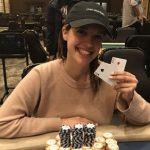 Cat Valdes struts her poker stuff