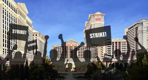 are vegas casino workers on strike