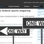 NCAA flip-flops on betting, now supports federal regulations