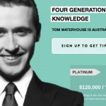 Newly jobless Tom Waterhouse launches pricey betting tip site
