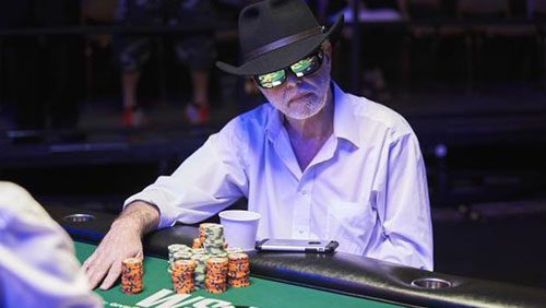 Hoping for his third consecutive WSOP Seniors title, James Moore and Lady Luck didn't connect