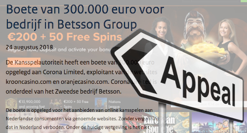 betsson-appeal-corona-dutch-gambling-penalty